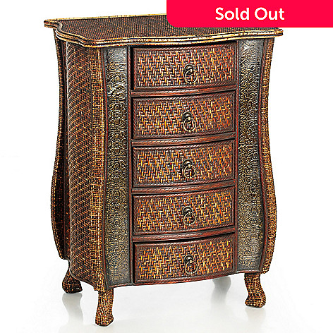 431-811 - Style at Home with Margie 31.75'' Orissa Rattan Chest of Drawers