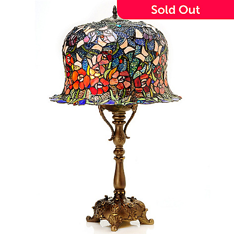 431-816 - Tiffany-Style 28.5'' Bella Rose Stained Glass Table Lamp