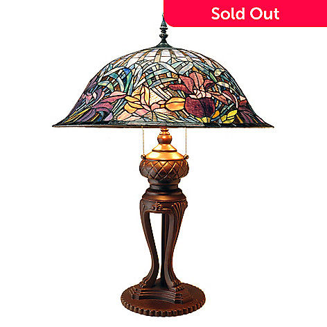 431-818 - Tiffany-Style 32.5'' Calandral Stained Glass Table Lamp
