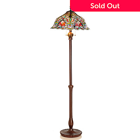 431-829 - Tiffany-Style 63'' Baroque Stained Glass Floor Lamp
