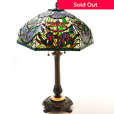 431-845 - Tiffany-Style 28'' Verna Stained Glass Table Lamp