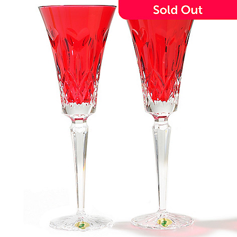 431-854 - Waterford® Crystal ''I Love Lismore'' Set of Two 6 oz Toasting Flutes