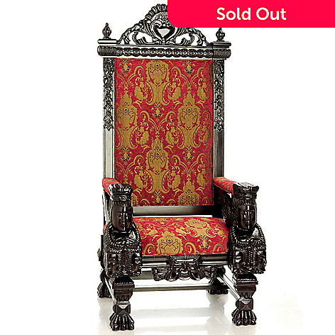 431-867 - 68.75'' Hand Carved Queen Chair