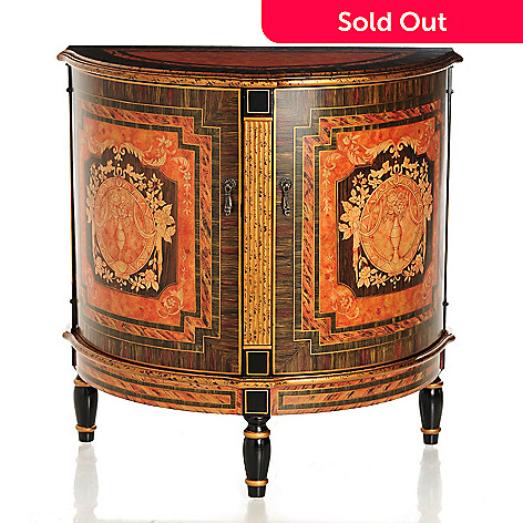 431-876 - Style at Home with Margie 34'' Santino Hand-Painted Cabinet
