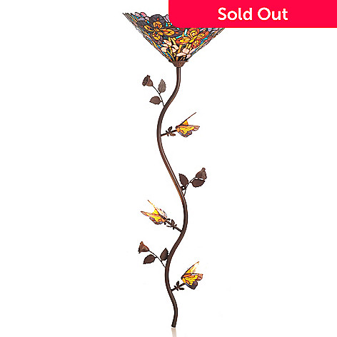 431-935 - Tiffany-Style 52'' The Butterfly Spree Stained Glass Wallchiere