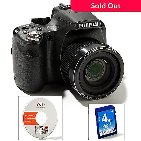 431-947 - Fujifilm FinePix 14MP 26x Optical Zoom HD Video Camera w/ 4GB SD Card & Software