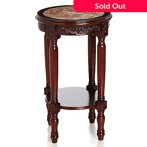 431-970 - Style at Home with Margie 28'' Bryant Hand-Carved Marble Top Table