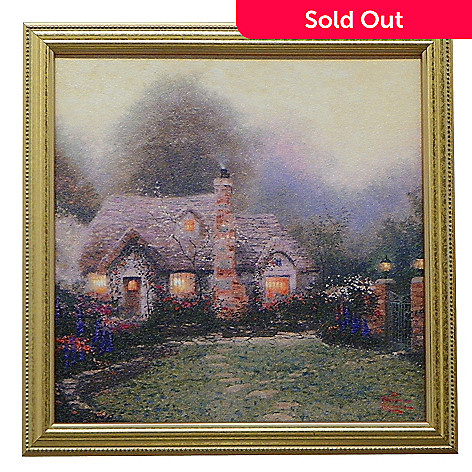 431-971 - Thomas Kinkade ''Nostalgic Cottage Collection'' Framed Textured Print