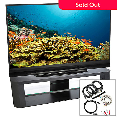 432-011 - Mitsubishi 73'' 1080p 120Hz 3D DLP HDTV w/ Three HDMI Cables & Optional Stand