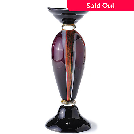 432-017 - Favrile Melrose 15'' Hand-Blown Art Glass Candle Holder