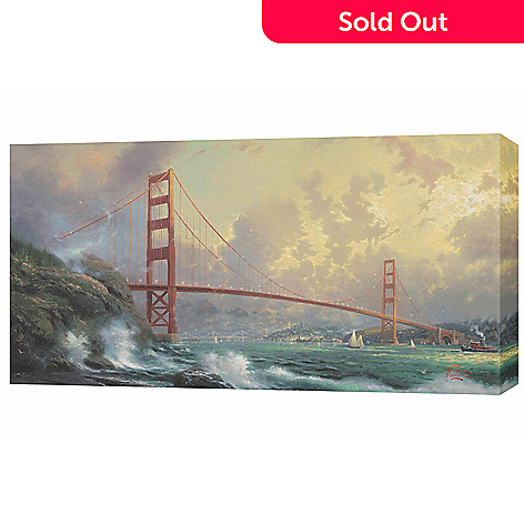 432-036 - Thomas Kinkade ''Golden Gate Bridge'' 31'' x 16'' Panoramic Gallery Wrap