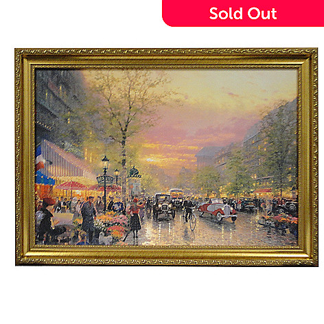432-039 - Thomas Kinkade ''Paris, City of Lights'' 27'' x 18'' Framed Textured Prints