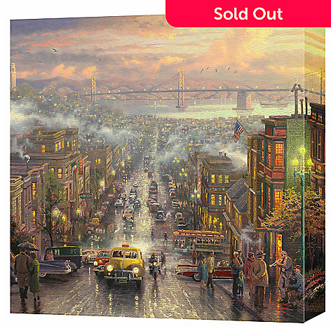 432-040 - Thomas Kinkade ''Heart of San Francisco'' 20'' x 20'' Gallery Wrap
