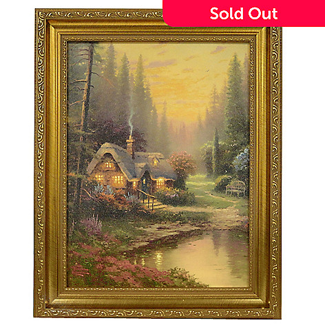 432-043 - Thomas Kinkade ''Meadowood Cottage'' 12'' x 16'' Framed Textured Print