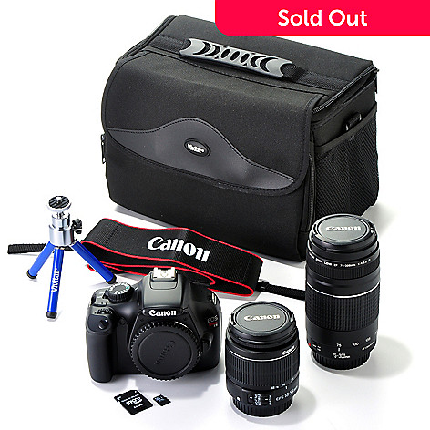 432-046 - Canon EOS Rebel T3 12MP Digital Camera w/ Lens, Camera Bag, Tripod & 16GB SD Card