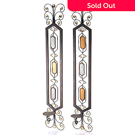 432-166 - Style at Home with Margie Set of Two 37.75'' Zita Candle Wall Sconces