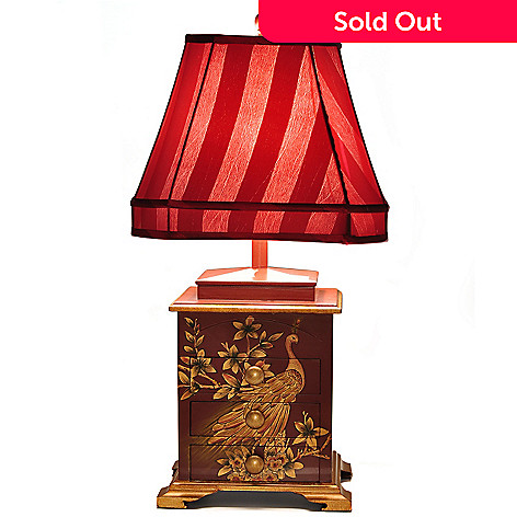 432-174 - 29.25'' Hortense Hand Painted Peacock Table Lamp