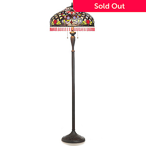 432-181 - Tiffany-Style 61.625'' Festival of Summer Stained Glass Floor Lamp