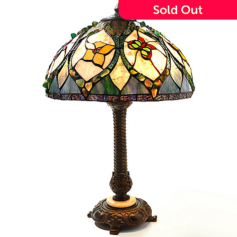 432-197 - Tiffany-Style 24.75'' The Ophelia Stained Glass Table Lamp