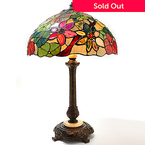 432-198 - Tiffany-Style 28'' The Morning Bouquet Stained Glass Table Lamp
