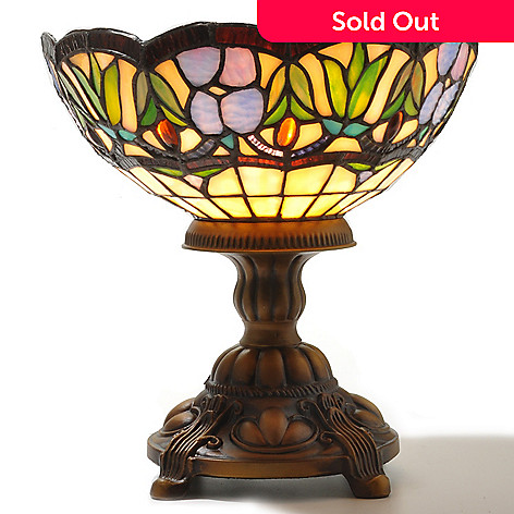 432-201 - Tiffany-Style 9.5'' The Anastasia Stained Glass Accent Lamp