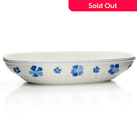 432-288 - Villeroy & Boch Farmhouse Touch Blueflower 12-3/5'' Baking & Serving Dish