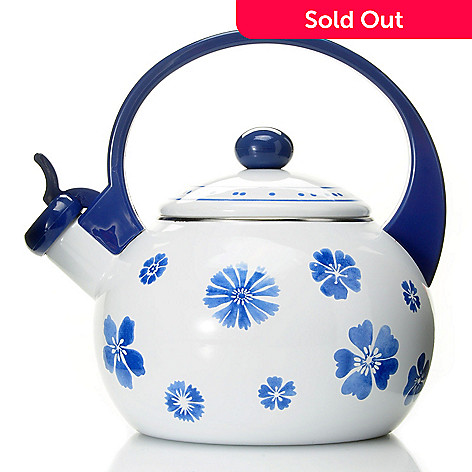 432-290 - Villeroy & Boch Farmhouse Touch Blueflowers 2 qt. Tea Kettle
