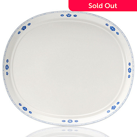 432-292 - Villeroy & Boch Farmhouse Touch Blueflowers 15-1/4'' Oval Serving Plate