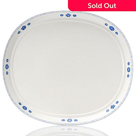 432-292 - Villeroy & Boch Farmhouse Touch Blueflowers 15-1/4'' Oval Serving Plate