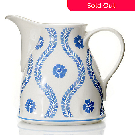 432-294 - Villeroy & Boch Farmhouse Touch Blueflowers 18.5 oz. Gravy Boat