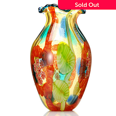 432-364 - Favrile Atomic 12.5'' Hand-Blown Art Glass Vase