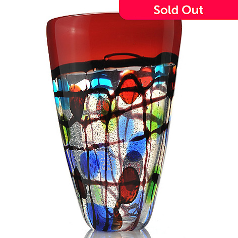 432-378 - Favrile 10.5'' Hand-Blown Art Glass Vase