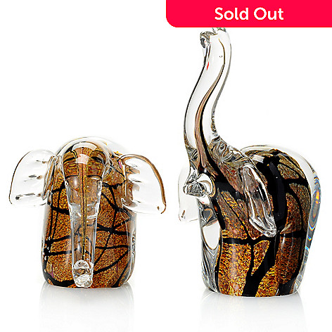 432-380 - Favrile Set of Two Hand-Blown Art Glass Sculptures