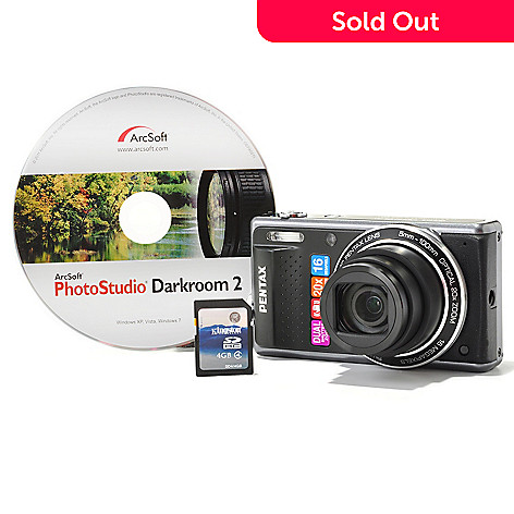 432-384 - PENTAX Optio VS20 16MP 20x Optical Zoom 3'' LCD Screen Camera Kit w/ 4GB SD Card