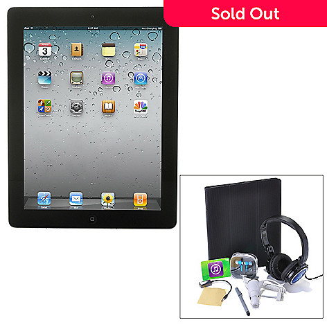 432-486 -  Apple iPad 3rd Generation Wi-Fi Bundle w/ Folio Case, Dock, Headphones, Stylus & Car Charger