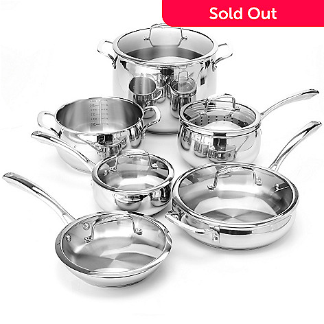 432-500 - Macy's Tools of the Trade® Belgique® 12-Piece Stainless Steel Cookware Set