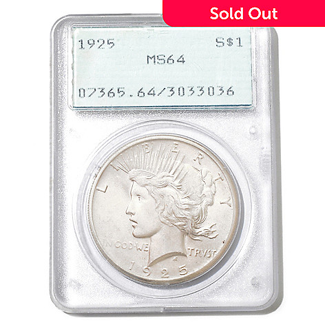 432-518 - 1922-1925 PCGS MS64 Peace Dollar Coin w/ Old Generation Slab