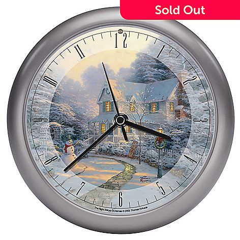 432-524 - Thomas Kinkade ''Night Before Christmas'' Wall Clock