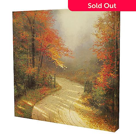 432-528 - Thomas Kinkade ''Autumn Lane'' 20'' x 20'' Gallery Wrap