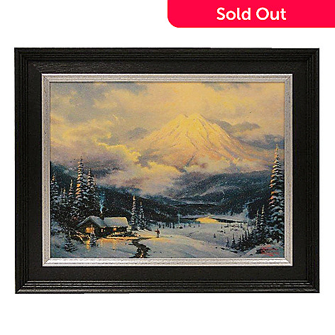 432-530 - Thomas Kinkade ''Warmth of Home'' 12'' x 16'' Framed Textured Print