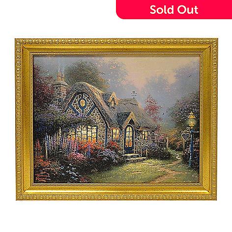 432-531 - Thomas Kinkade ''Candlelight Cottage'' 16'' x 20'' Framed Textured Print