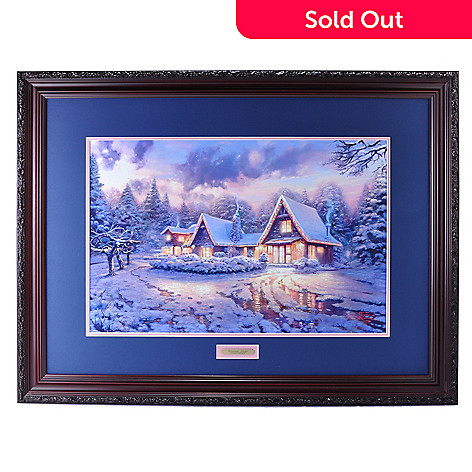 432-533 - Thomas Kinkade ''Christmas Lodge'' 18'' x 27'' Limited Edition Framed Print