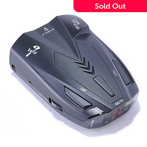 432-535 - Cobra® 9-Band Radar/Laser Detector