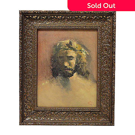 432-541 - Thomas Kinkade ''Prince of Peace'' 14'' x 11'' Framed Textured Print