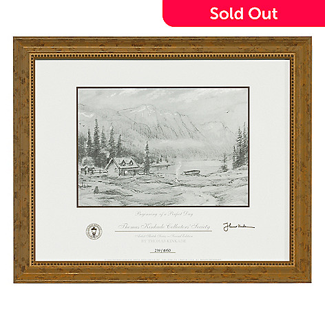 432-543 - Thomas Kinkade ''Beginning of a Perfect Day'' 4-1/2 x 6-1/2 Limited Edition Framed Print