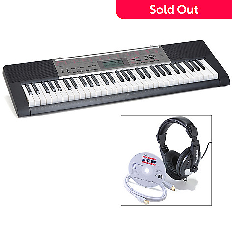 432-548 - Casio  61 Lighted Key Keyboard w/ USB Cable, Software & Headphones