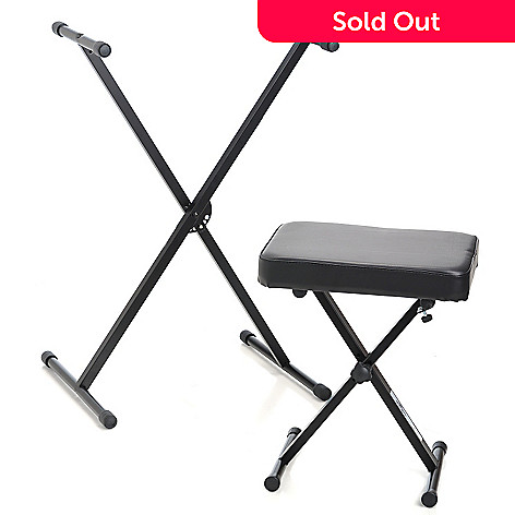 432-549 - World Tour SXKS X-Braced Keyboard Stand & Padded Keyboard Storage Bench