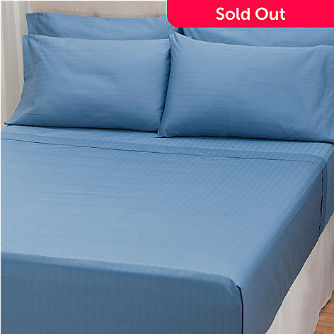 432-556 - North Shore Linens™ 1000TC Egyptian Cotton SureSoft® Striped Six-Piece Sheet Set