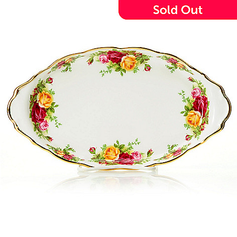 432-566 - Royal Albert Old Country Roses 10'' Bone China Regal Tray