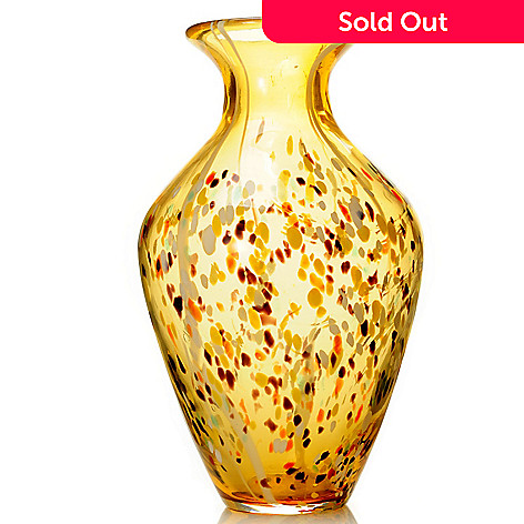 432-572 - Favrile 15'' Hand-Blown Art Glass Speckle Vase